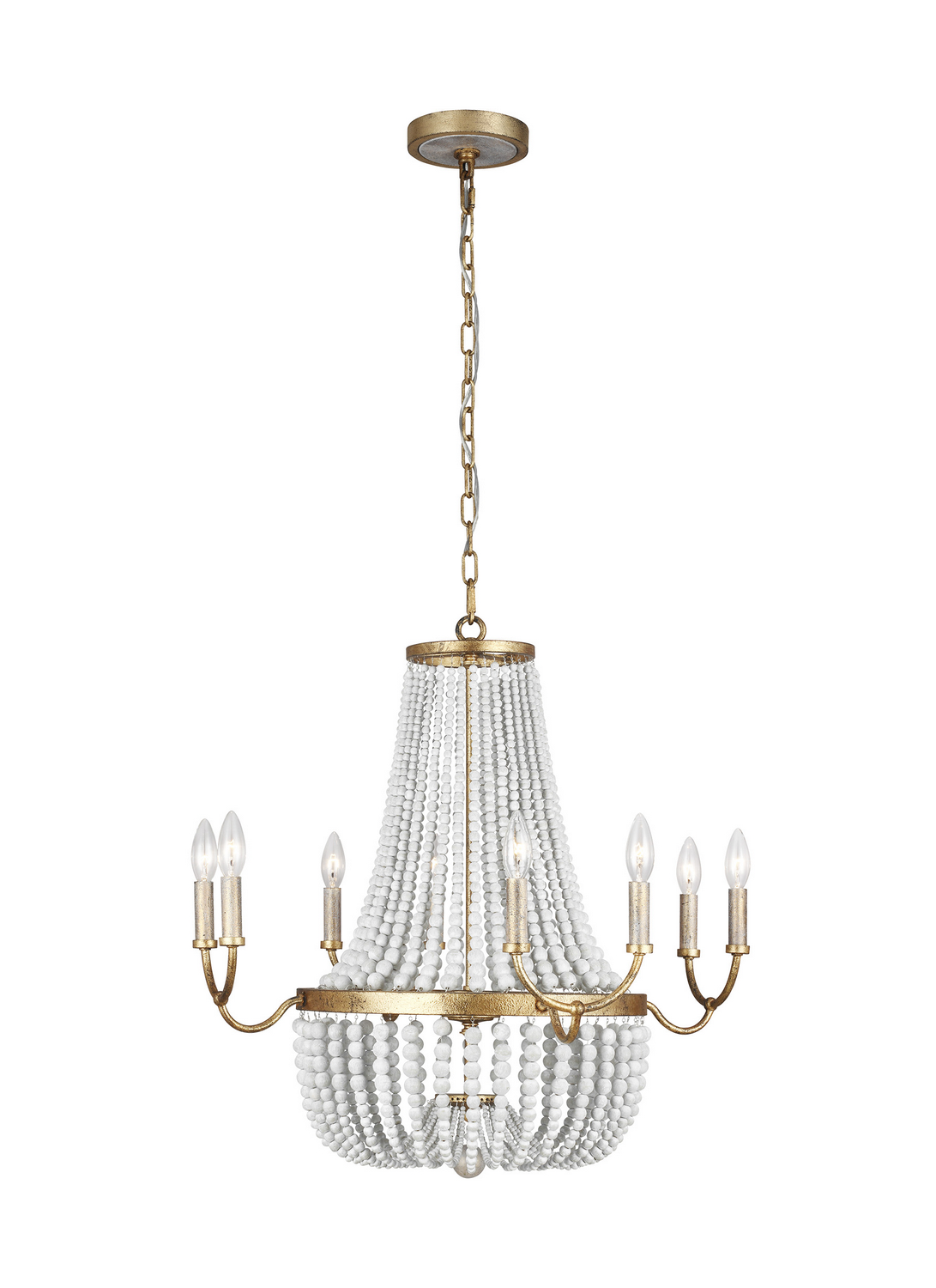 Eight Light Chandelier from the Marielle collection by Feiss F32808ADB