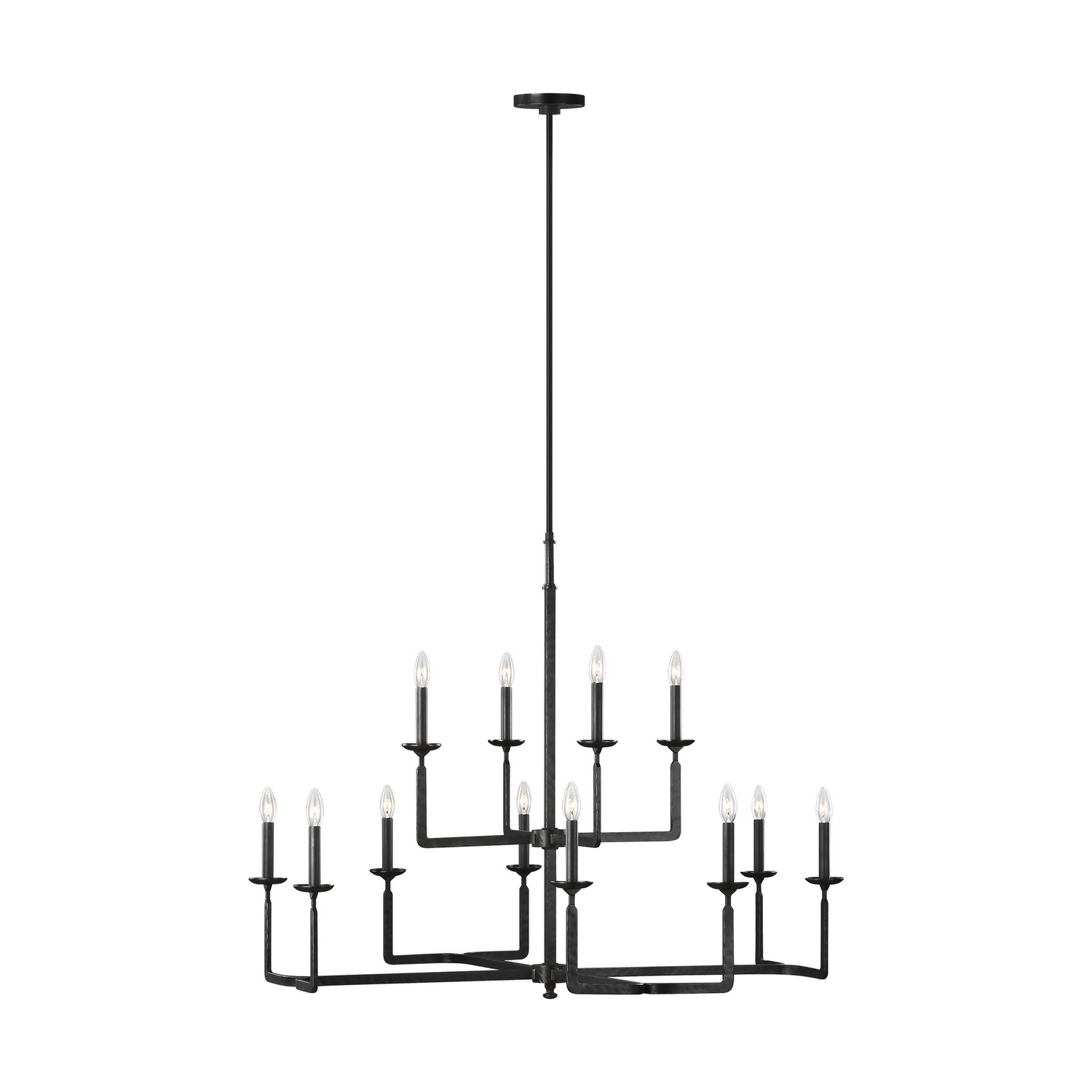 12 Light Chandelier from the Ansley collection by Feiss F329012AI