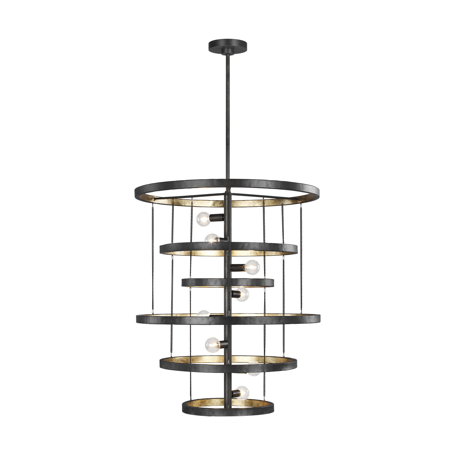 Eight Light Chandelier from the Celeste collection by Feiss F33418AIADB