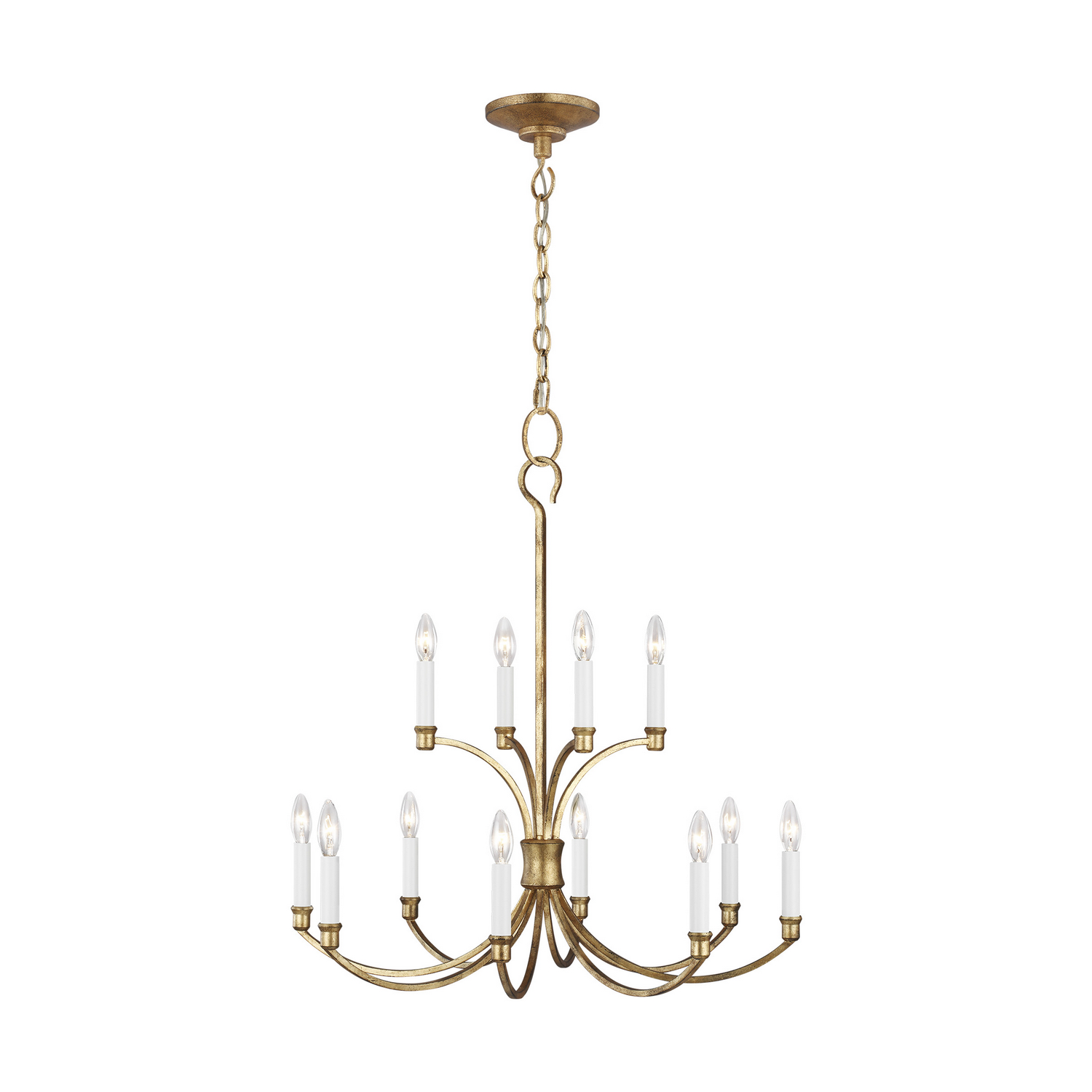 12 Light Chandelier from the Westerly collection by Feiss CC10612ADB