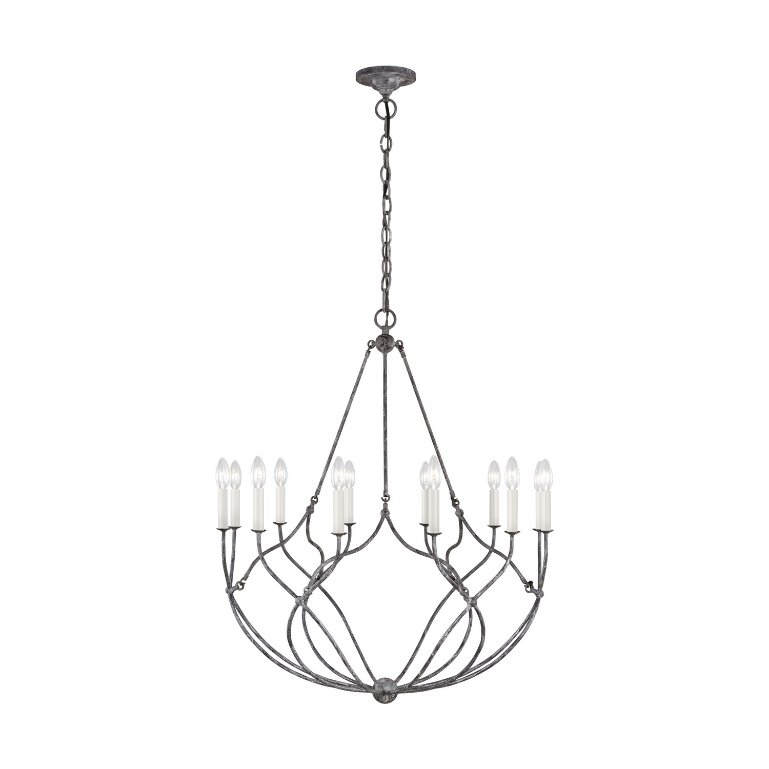 12 Light Chandelier from the Richmond collection by Feiss CC11212WGV