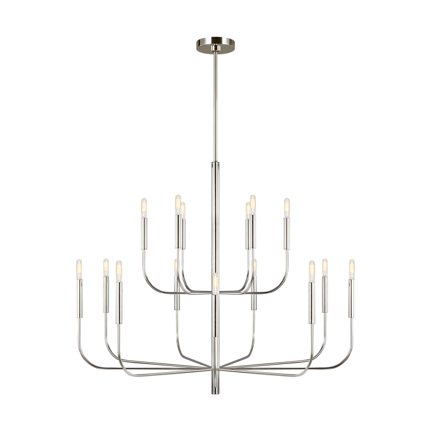 15 Light Chandelier from the Brianna collection by Feiss EC10015PN