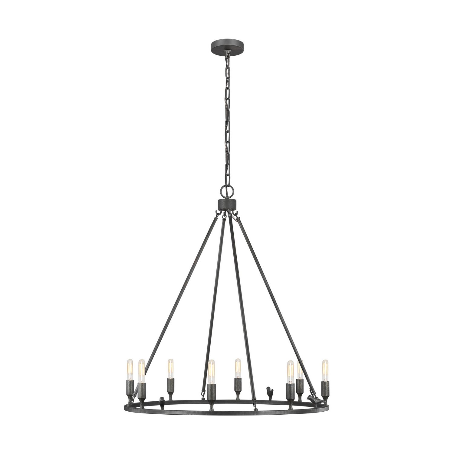 Eight Light Chandelier from the Caroline collection by Feiss EC1048AI