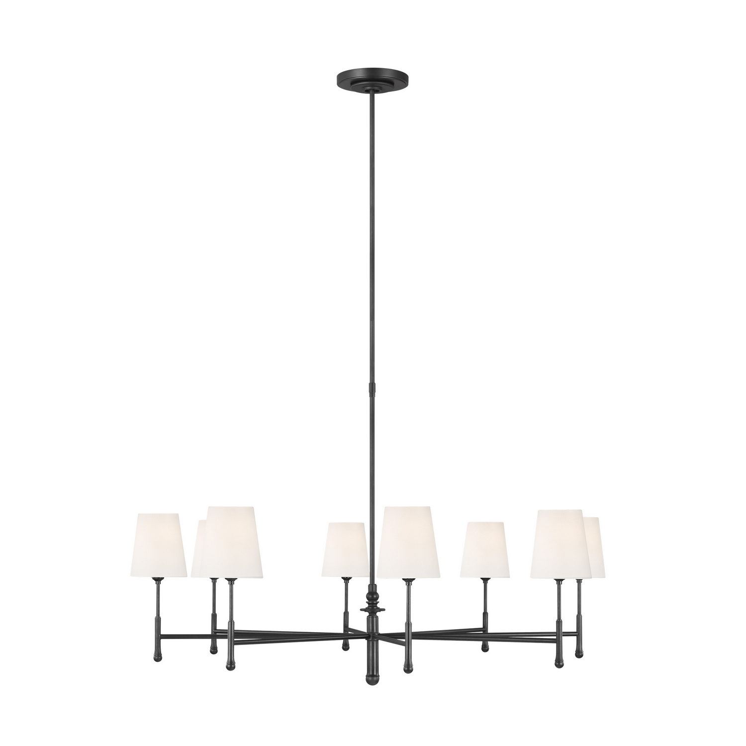 Eight Light Chandelier from the Capri collection by Feiss TC1028AI