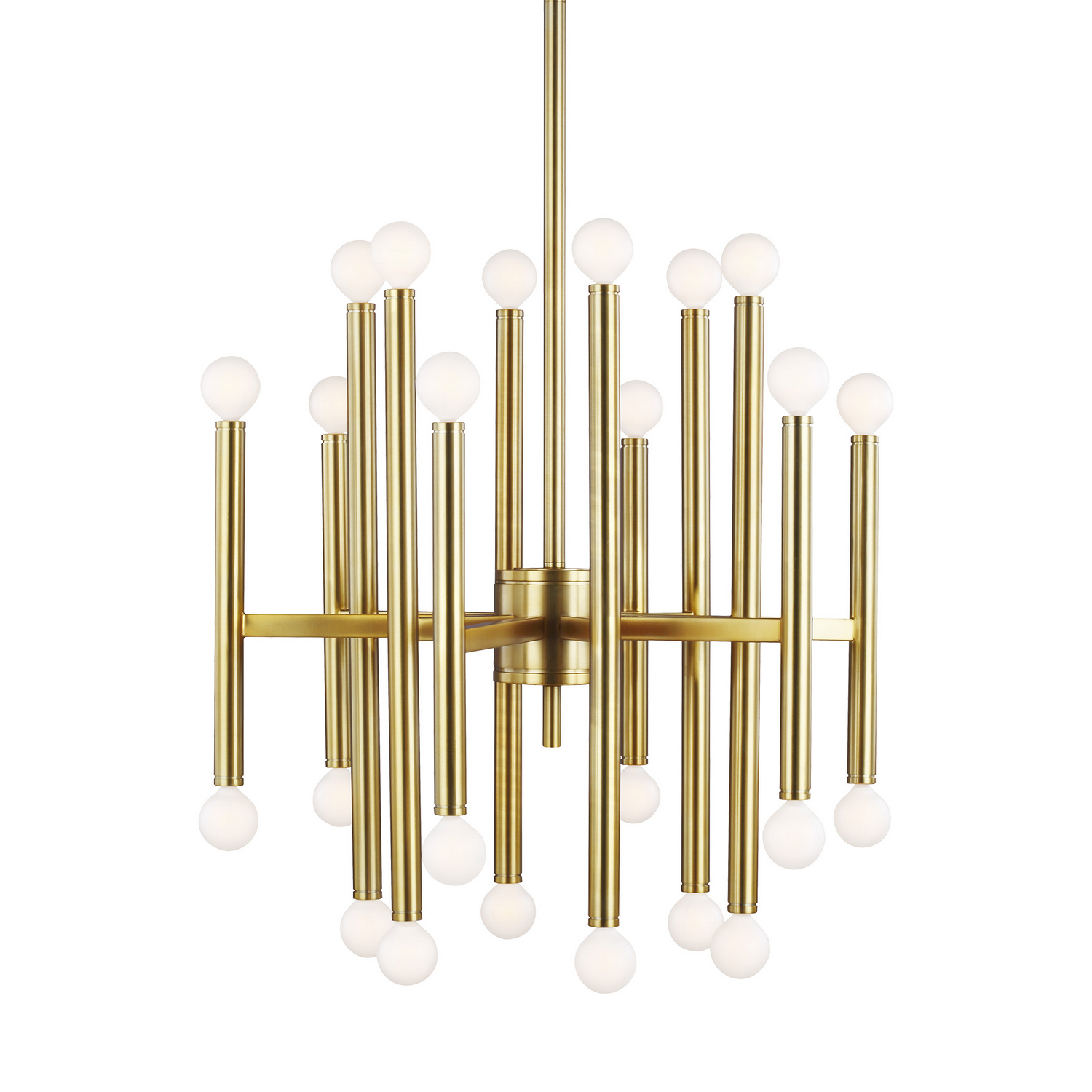 24 Light Chandelier from the Beckham Modern collection by Feiss TC10524BBS