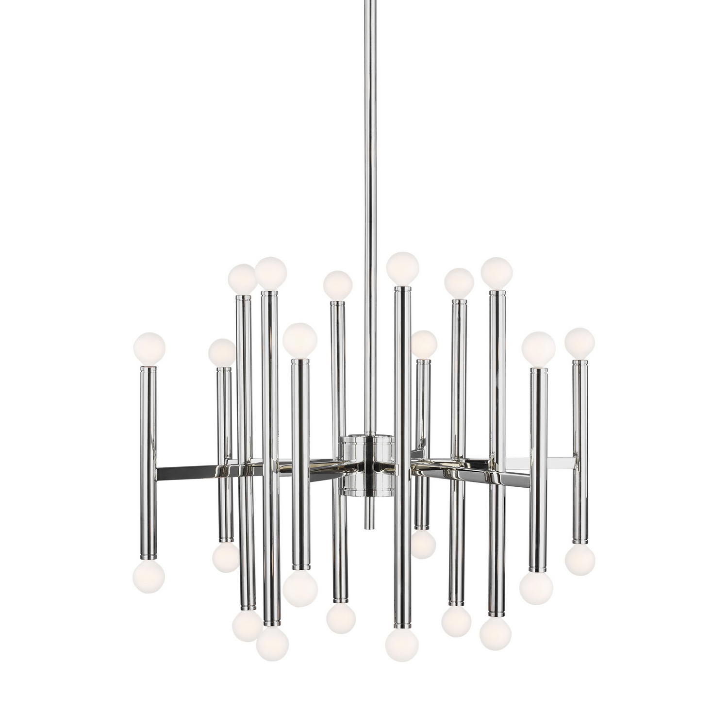 24 Light Chandelier from the Beckham Modern collection by Feiss TC10624PN