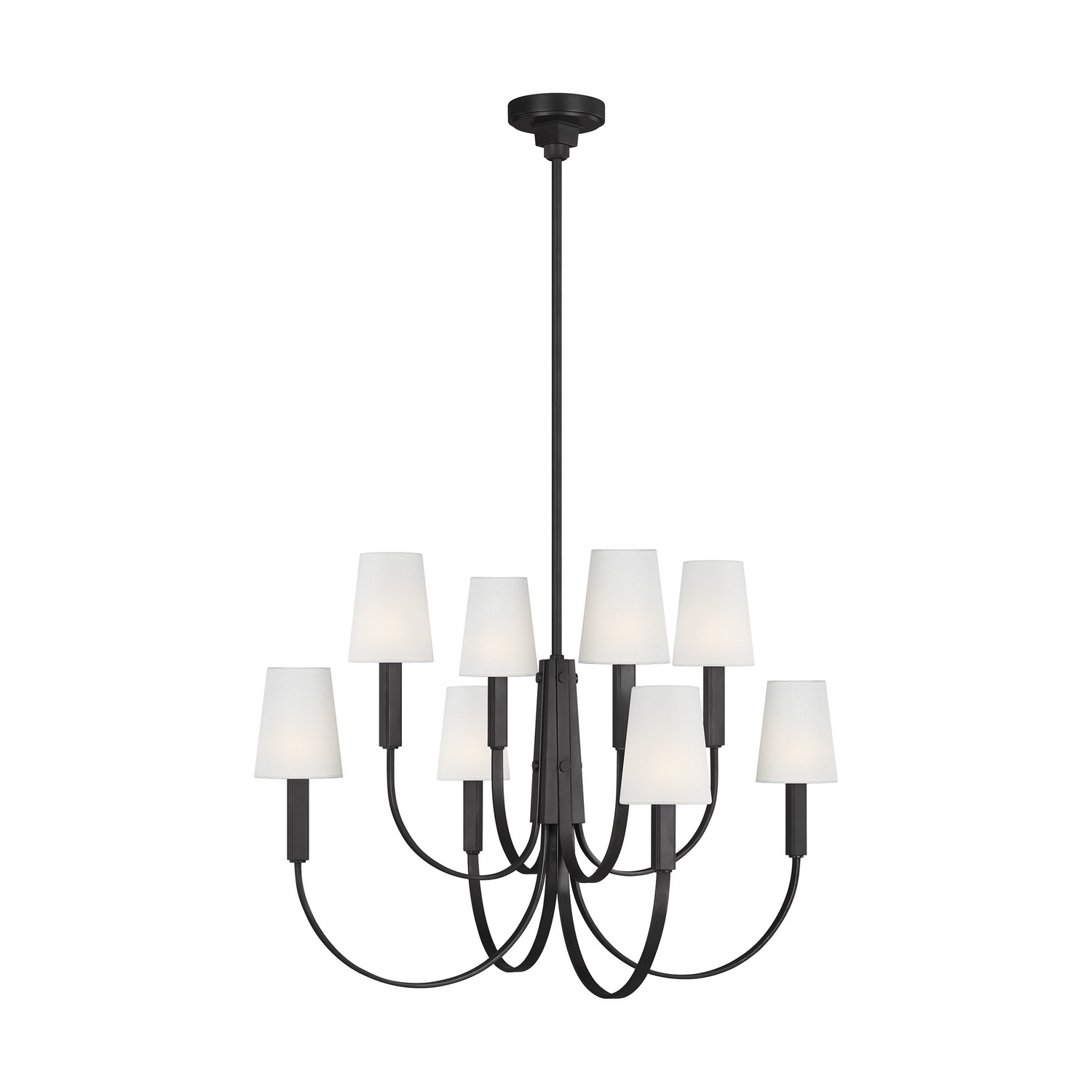 Eight Light Chandelier from the Logan collection by Feiss TC1088AI
