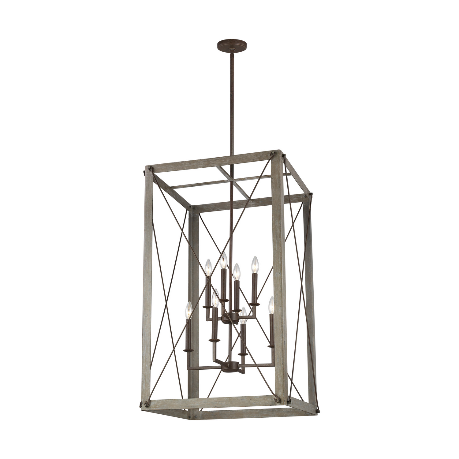 Eight Light Hall Foyer Pendant from the Thornwood collection by Seagull 6526308EN 872
