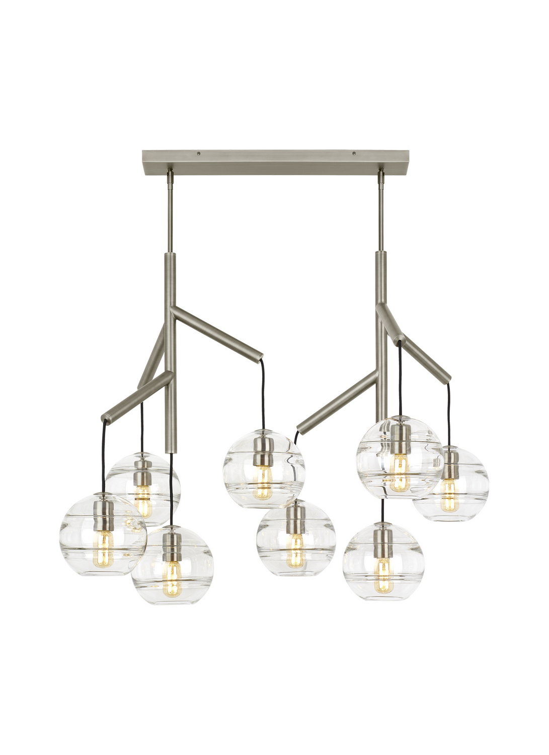 Chandelier from the Sedona collection by Tech Lighting 700SDNMPL2CS
