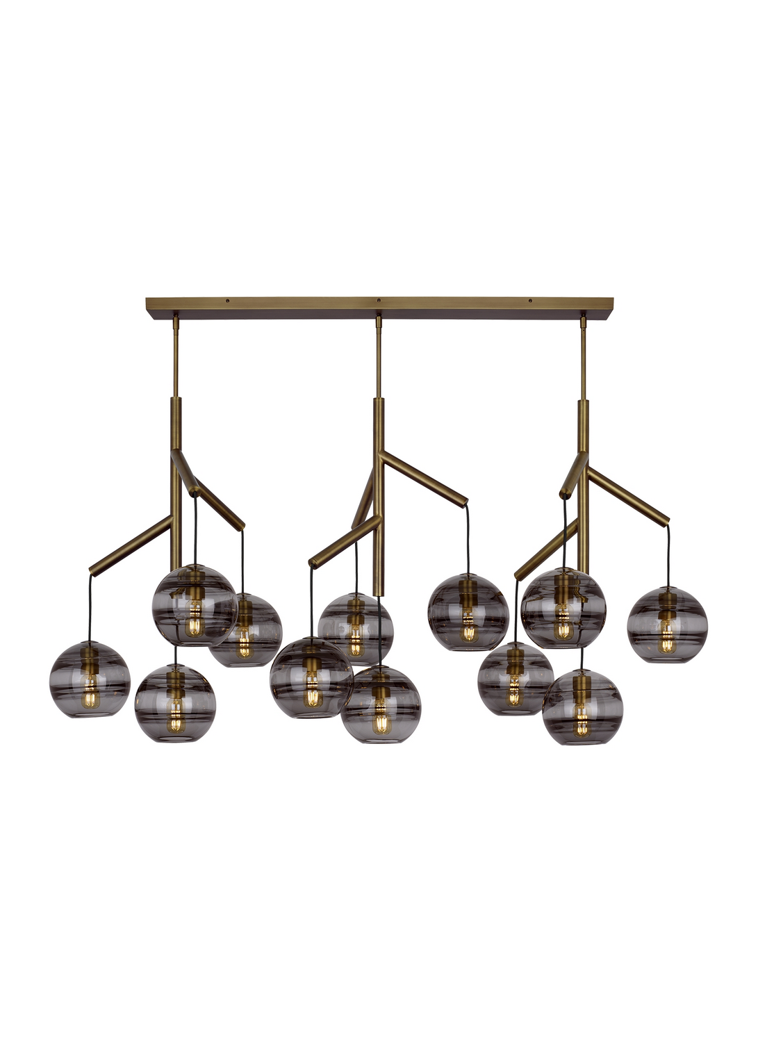 Chandelier from the Sedona collection by Tech Lighting 700SDNMPL3KR