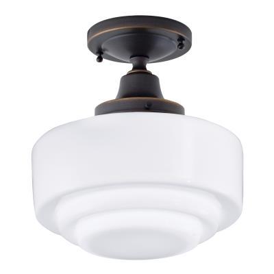 Norwell Lighting 5361f Ob St Schoolhouse One Light Flush Mount