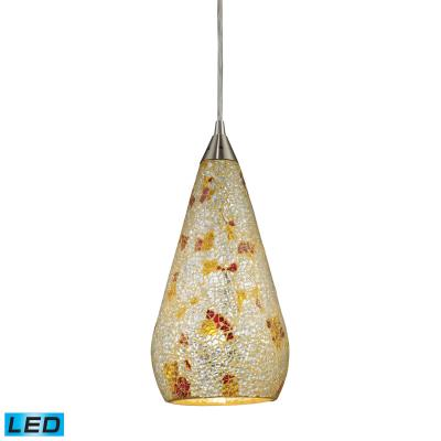 Elk lighting 546 1slvm crc led led pendant satin nickel