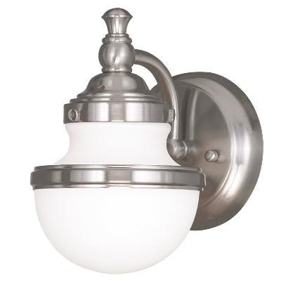 Livex Lighting 5711-05 Oldwick 1-Light Bathroom Sconce w// Hand-Blown Glass Shade