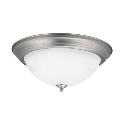 Led flush mount brushed nickel