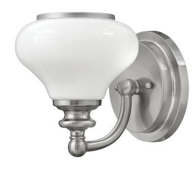 ... Hinkley   56550BN   One Light Bath   Brushed Nickel
