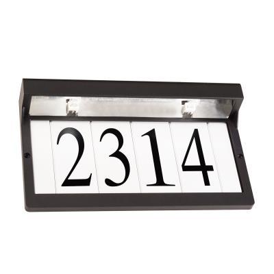 22c3c69b4c81 Kichler - 43800BKT - Two Light Address Light - Textured Black