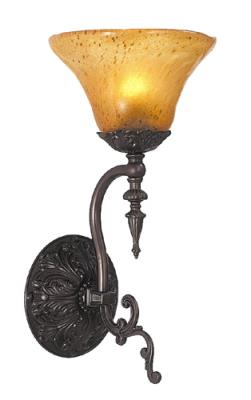 Siena Bronze Framburg 2421 SBR//AM Taylor 1-Light Wall Sconce with Amber Marble Glass Shade