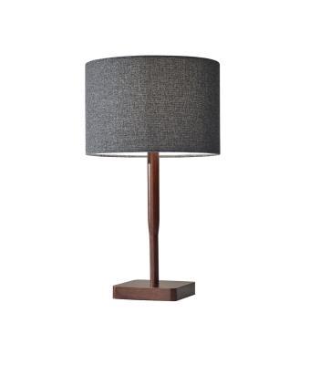chuckanut lighting. Adesso Home - 4092-15 One Light Table Lamp Walnut Rubber Wood Chuckanut Lighting O