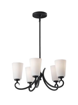 Murray feiss f2535 5bk peyton five light chandelier black