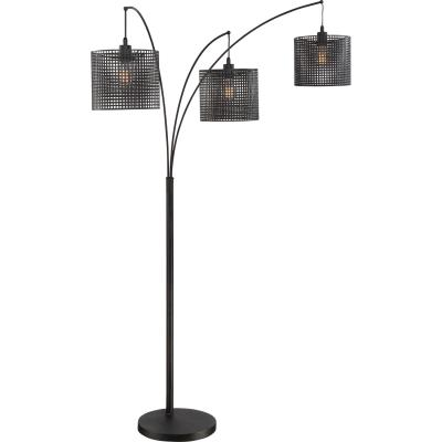 Brothers lighting quoizel q2606f quoizel portable lamp three light floor lamp earth black aloadofball Gallery
