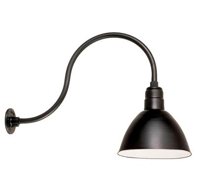 Hite Lighting - Exterior - Wall Mount - One Light Gooseneck Light - Black  sc 1 st  Hite Lighting & Hite Lighting - Exterior - Wall Mount - One Light Gooseneck Light ...