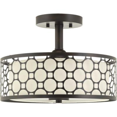 Progress lighting p2329 2030k9 mingle led led semi flush mount
