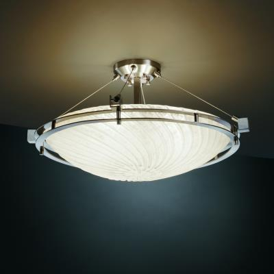 Led semi flush mount brushed nickel