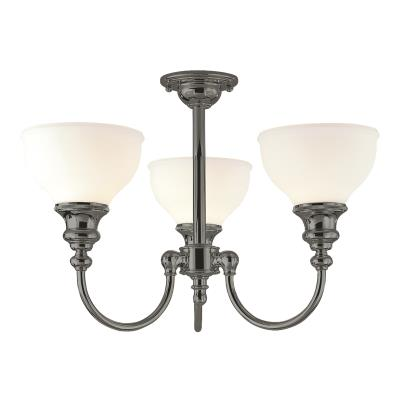 Hudson valley sutton three light semi flush mount