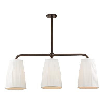 Hudson valley 6063 db three light island pendant distressed bronze