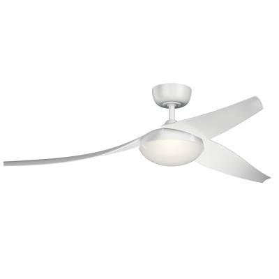 Capital lighting kichler 310700mwh flyy 60ceiling fan matte white aloadofball Gallery
