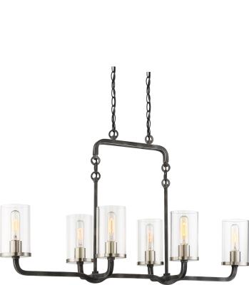 Black//Brushed Nickel 60-6121 Nuvo Lighting Sherwood 1 Light Wall Sconce