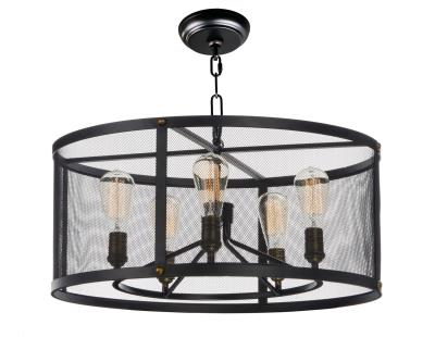 Maxim 20115bknab palladium five light chandelier black natural aged brass