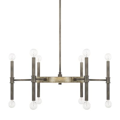 Great Capital Lighting   421401IG   Gavin   12 Light Chandelier   Iron And Gold