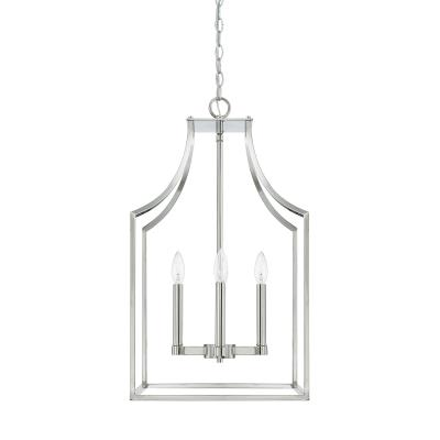 Capital lighting 520443pn four light foyer pendant polished nickel