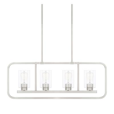 Capital lighting 820041bn 430 four light island pendant brushed nickel