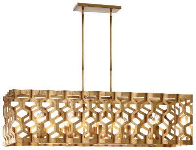 chuckanut lighting. Metropolitan - N6778-293 Ten Light Island Pendant Pandora Gold Leaf Chuckanut Lighting G
