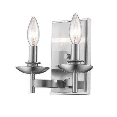2-Light Minka Lavery 6212-84 Vanity 120 Total Watts Brushed Nickel