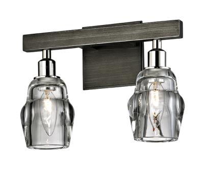 Troy lighting b6002 citizen two light wall bath graphite polished nickel