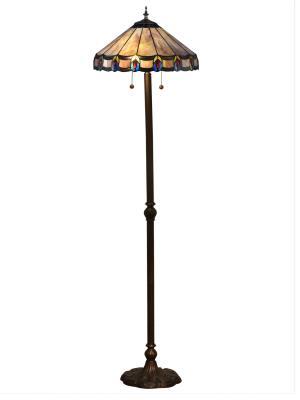 Bohnet electric dale tiffany two light floor lamp antique bronze aloadofball Choice Image