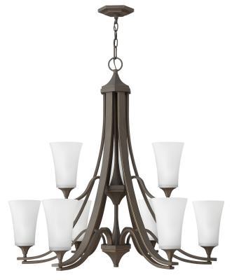 Hinkley 4638oz wh brantley nine light foyer pendant oil rubbed bronze