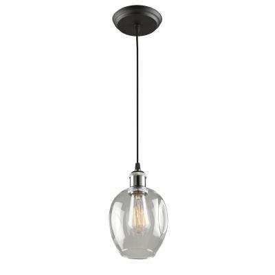 chuckanut lighting. Artcraft - AC10730PN One Light Pendant Polish Nickel/Black Chuckanut Lighting S