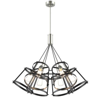 chuckanut lighting. DVI Lighting - DVP29426SN/GR Six Light Pendant Satin Nickel Chuckanut