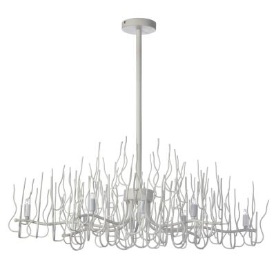Watts current eight light chandelier matte white mozeypictures Images