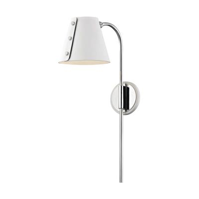 Hudson valley hl174201 pn wh meta led wall sconce polished