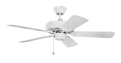Capital lighting kichler 414wh basics 42ceiling fan white aloadofball Gallery