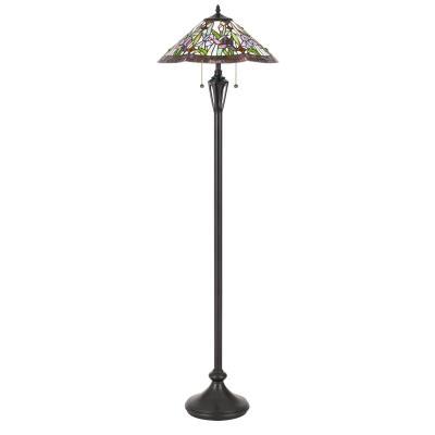 Cardello lighting quoizel tf3456fvb tiffany two light floor lamp vintage bronze aloadofball Choice Image