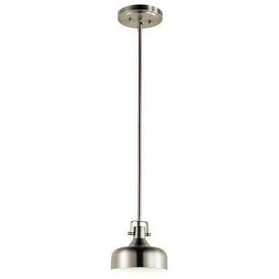 Kichler 11301niled no family one light mini pendant brushed nickel