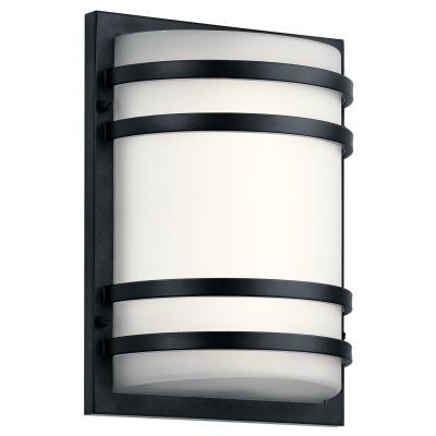 Black Kichler Lighting 9244BK Two Light Outdoor Wall Mount