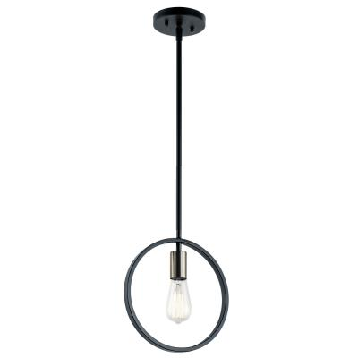 Kichler 44196mbk brooklyn one light mini pendant matte black