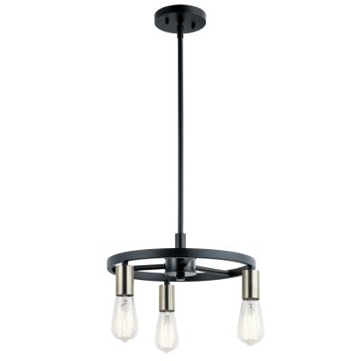 Kichler - 44197MBK - Brooklyn - Three Light Mini Chandelier/Semi-Flush Mount -  sc 1 st  Brothers Lighting & Brothers Lighting
